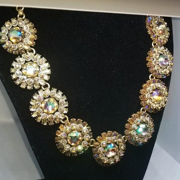 J.Crew necklace jcrew crystal watermelon necklace